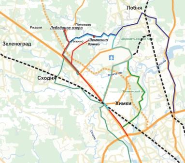 Схема движения автобуса № 820